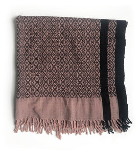Vintage Hmong Hill Tribe Throw Blanket