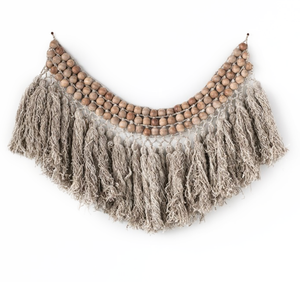Beaded Fringe Wallhanging