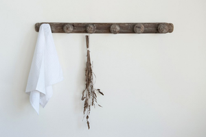 3' Distressed Wood Wall Hook