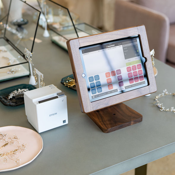 Epson Receipt Printer and Wooden iPad Stand