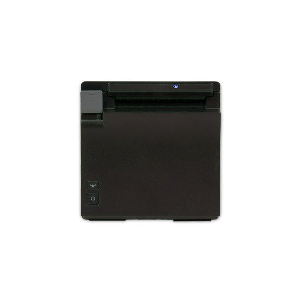 Front of black Epson Receipt Printer