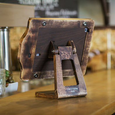 Rustic POS Wooden iPad Stand