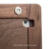 wood iPad dock