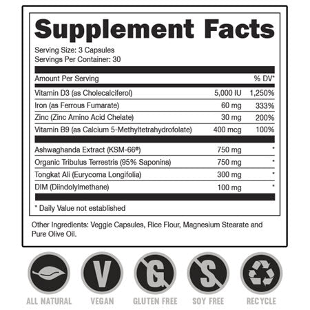 DAS Labs - RUT Testosterone Booster - 732Supplements.com