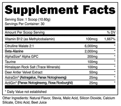 Image of DAS Labs - Bucked Up Stim Free - 732Supplements.com