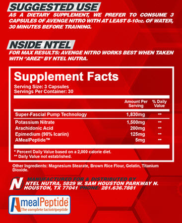 Image of NTel Nutra - Avenge Nitro - 732Supplements.com