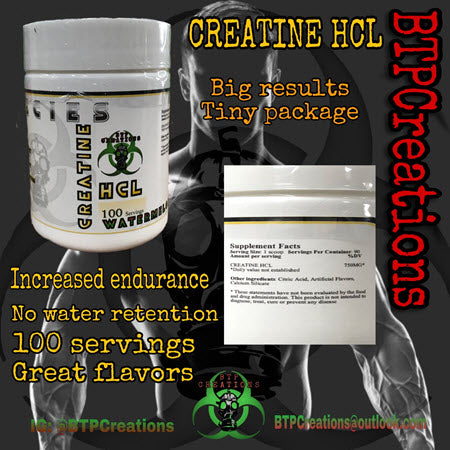 BTP Creations - Creatine HCL 100 Servings - 732Supplements.com
