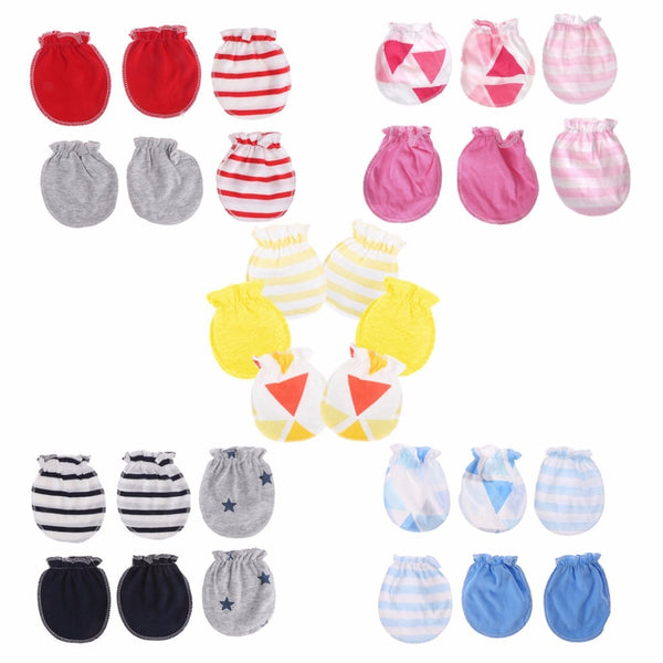 Newborn Baby Anti Scratch Warm Mittens Gloves Cotton Breathable Style Unisex