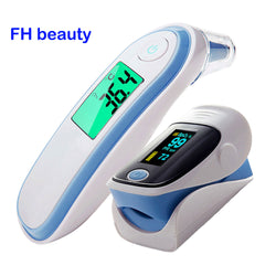 Fingertip Pulse & Forehead Ear Infrared Digital Thermometer Family Package