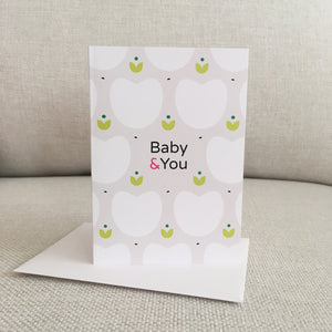 "matching gift card for baby shower called ""Baby & You"""
