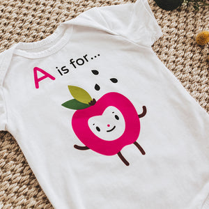 Onesie: A is for...Apple (SS)