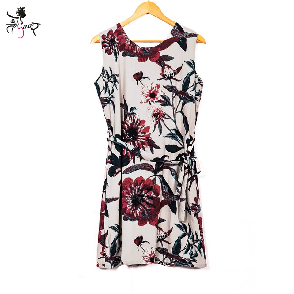 Sleeveless Causal Printed Dress