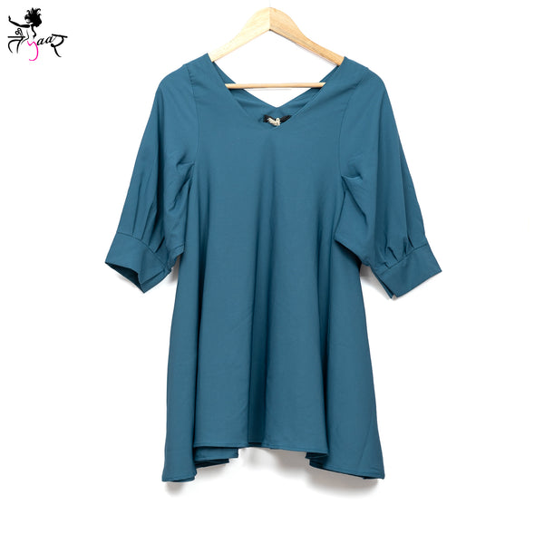 Short Bishop Sleeves Long Tops