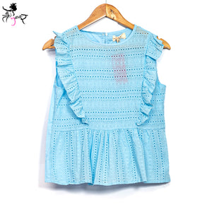Cotton Sleeveless Frill Tops