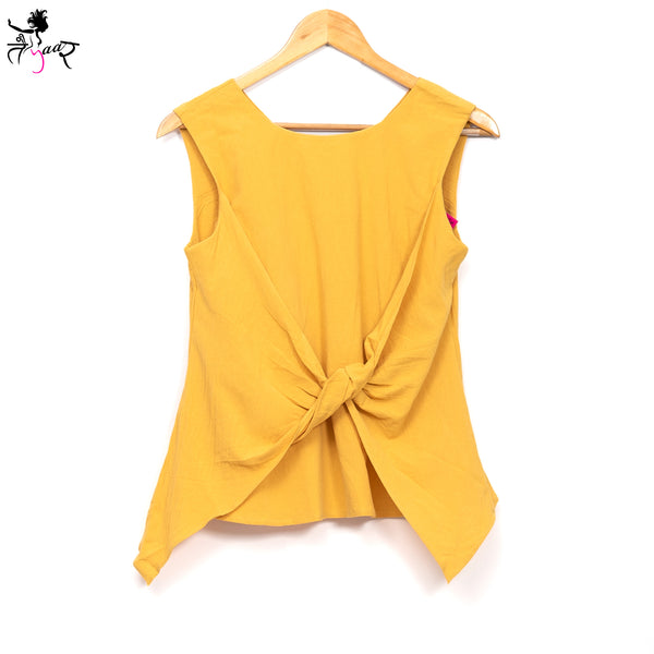 Cotton Sleeveless Flap Over Bow Top