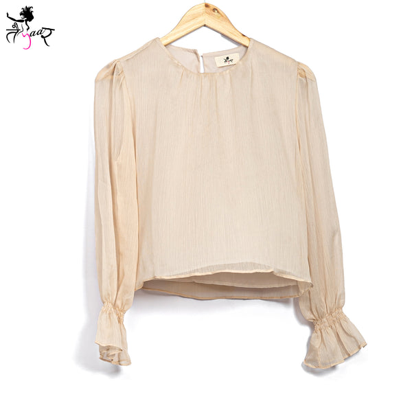 Long Sleeved Fancy Georgette Tops