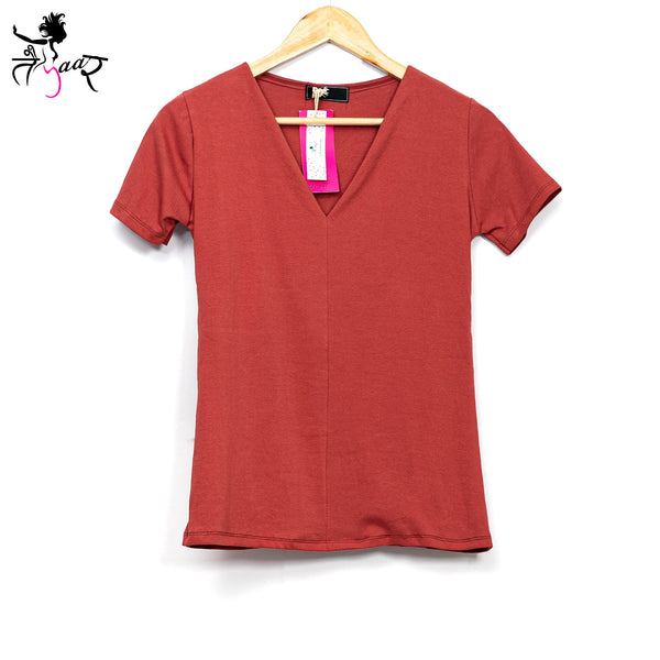 V-neck Solid Super Soft T-shirt