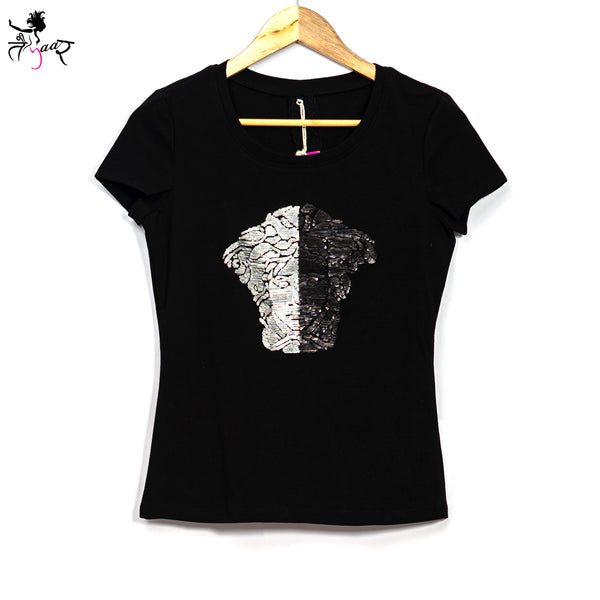 Stretchable Versace Sequin T-shirt