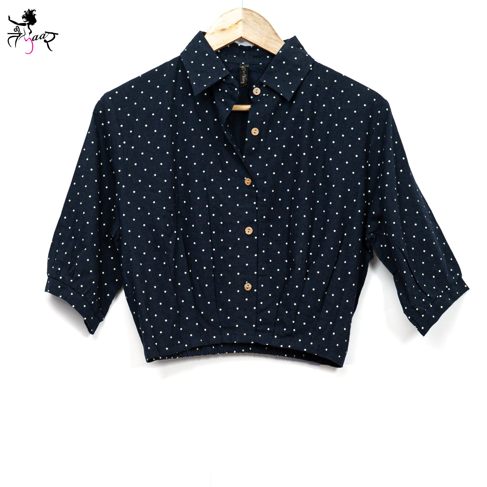 Polka Dots Crop Shirt