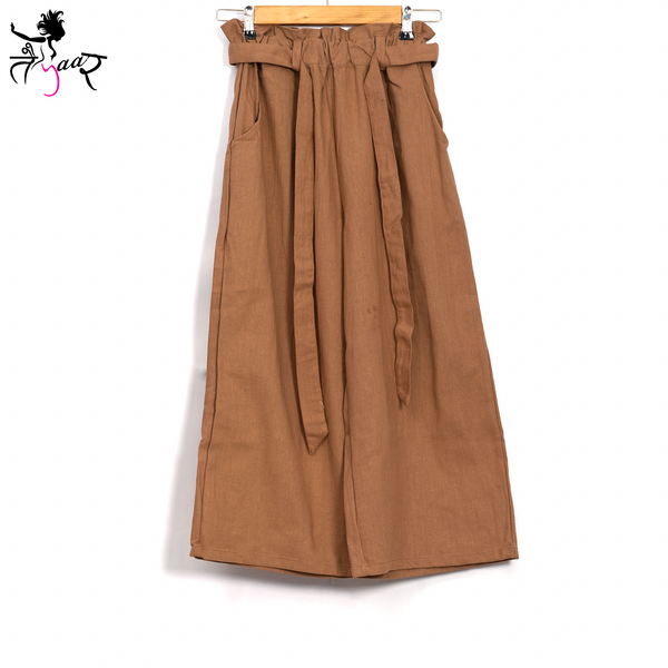 Paper-bag Trousers with Pockets