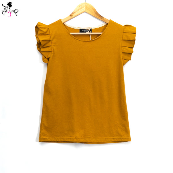 Cotton Frill Sleeve Tops