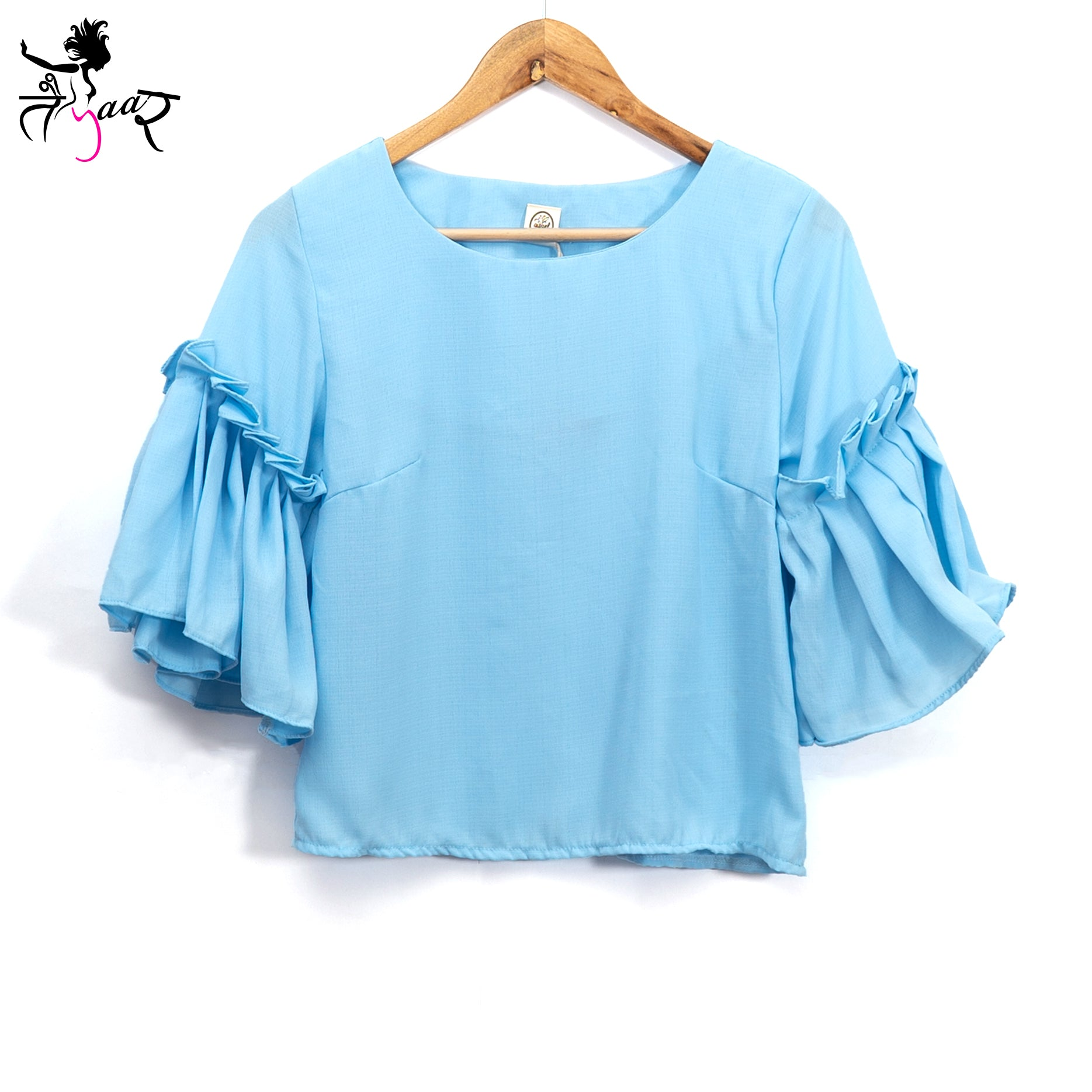 Frill Sleeves Party Wear Tops