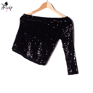 One Shoulder Sequin Tops