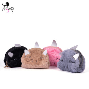 Unicorn Fur Pouch Keyrings
