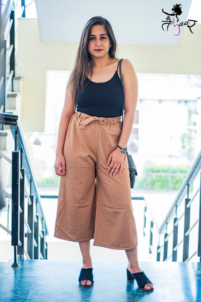 Striped Culottes with Belt
