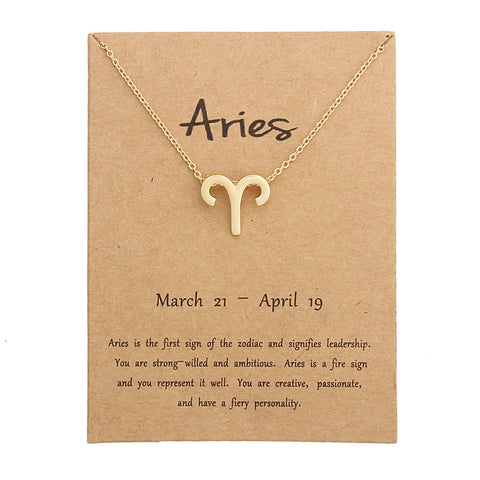 Zodiac Sign Necklace and Card