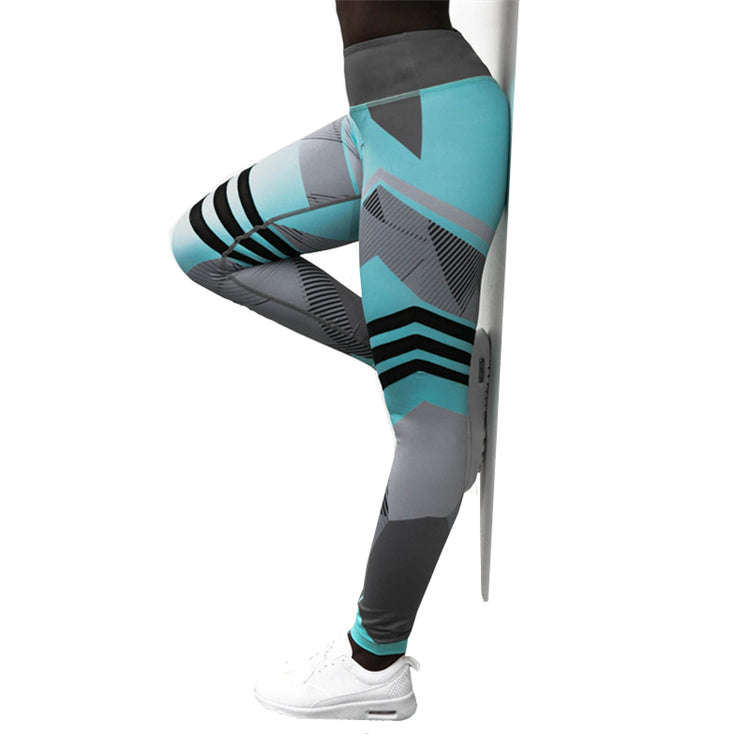 Icey Lines Fitness Yoga Pants