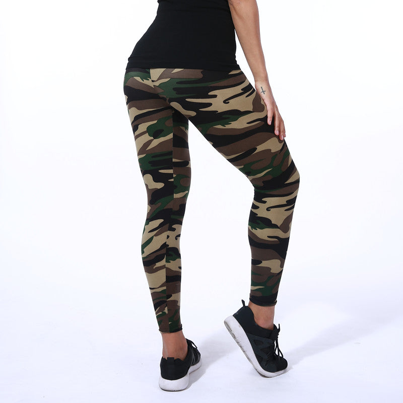 Color Camouflage Fitness Yoga Pants