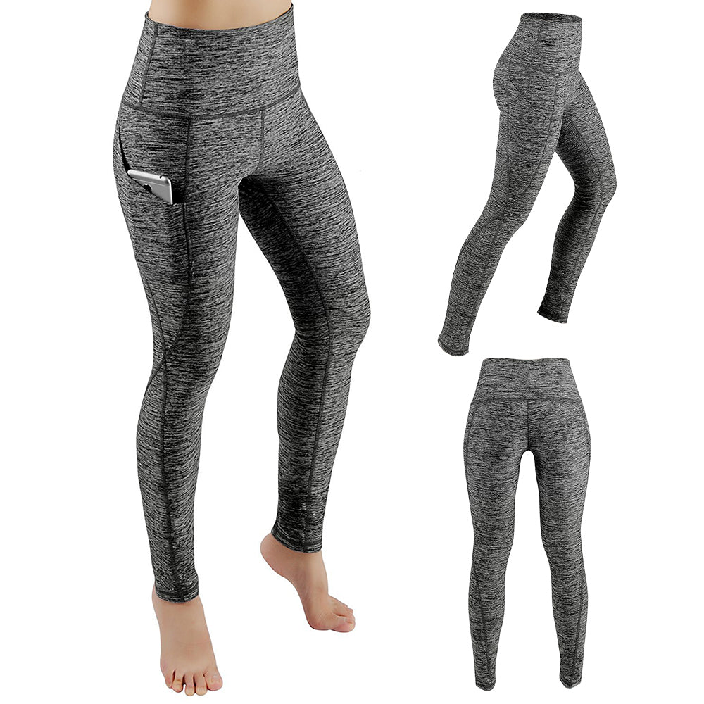 Cotton Pocket High Waist Fitness Pants