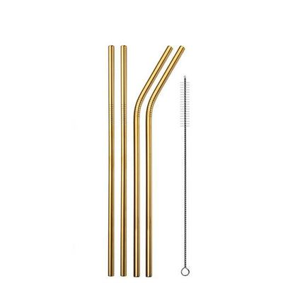 Gold Reusable Drinking Straws - Xorvos 365