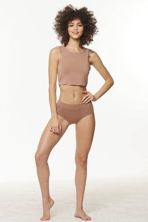 Soft Lounge Crop Eco-Modal Tank - SHON SIMON