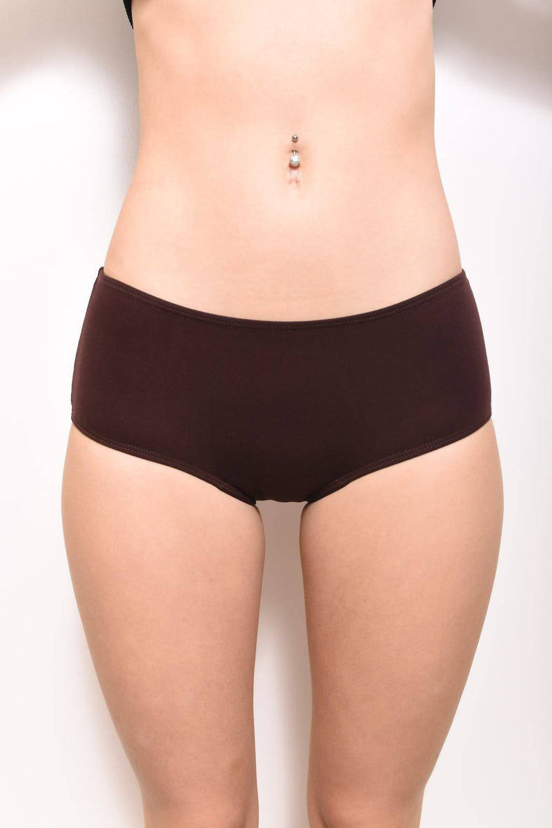 100% MicroModal Briefs Underwear: Chocolate