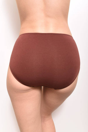 Eco-Modal Briefs Underwear: Cinnamon - SHON SIMON