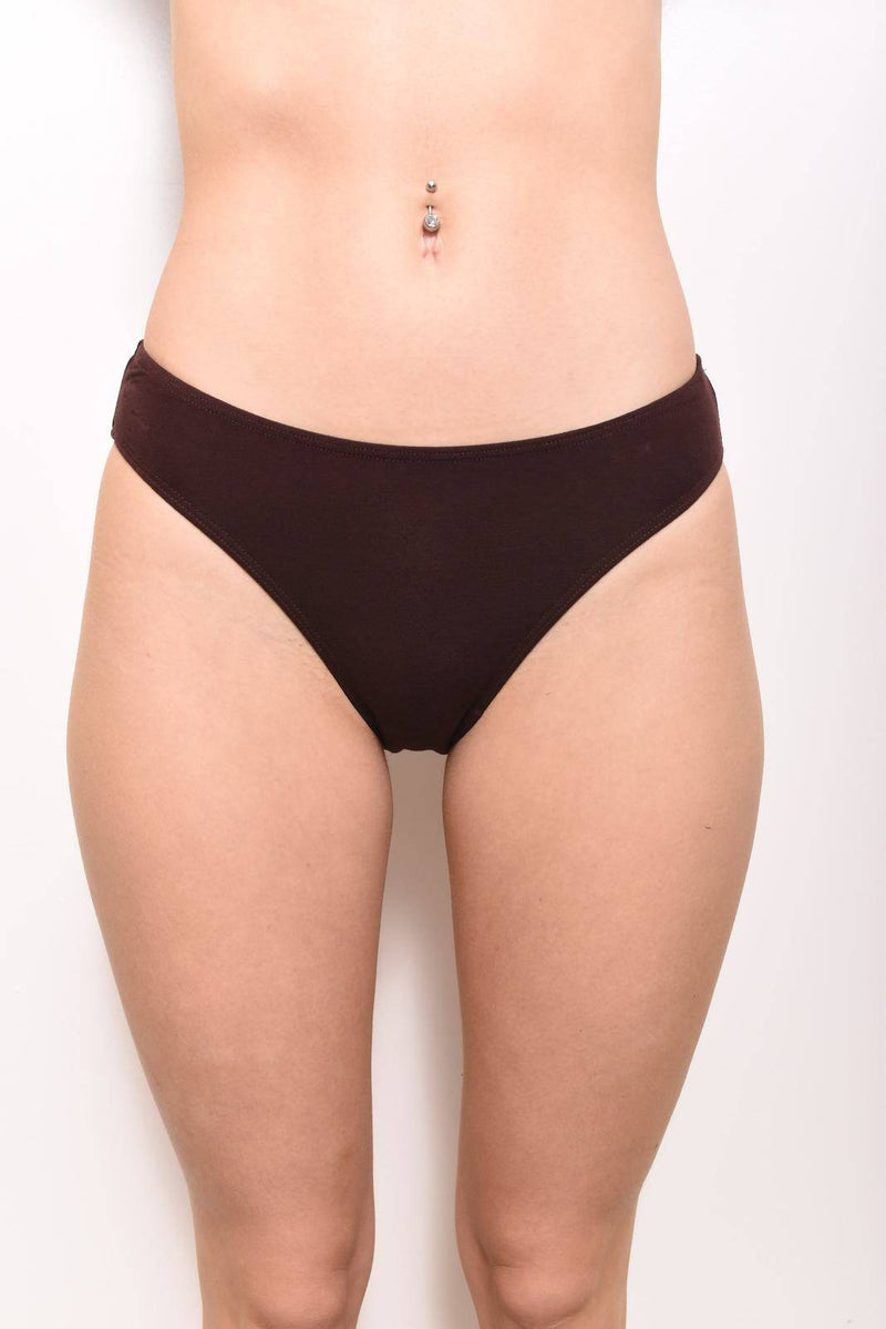 Eco-Modal  Bikini Underwear: Chocolate