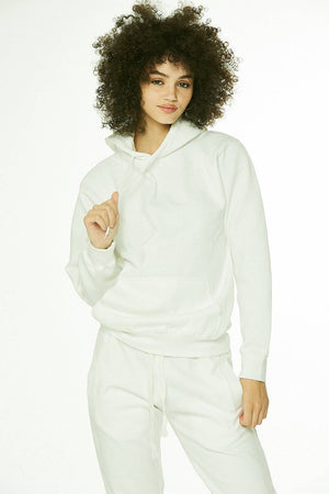 Core: Unisex Pullover Hoodie White/Perfect for Tye Die - SHON SIMON
