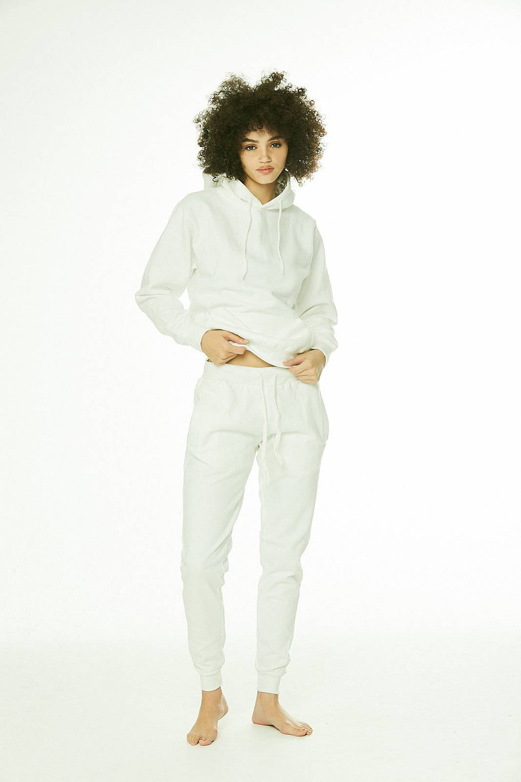 Core: Unisex Classic Jogger White/Perfect for Tye Die