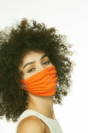 ORANGE FACE MASK - SHON SIMON