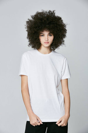 100% Comb Cotton T-Shirt White - SHON SIMON