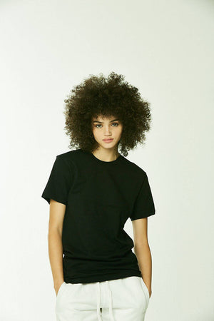 100% Comb Cotton T-Shirt Black - SHON SIMON
