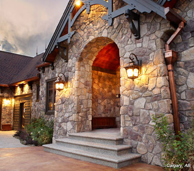 Cultured Stone Dressed Fieldstone Random Feature Wall