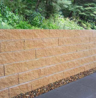 NATIONAL MASONRY GARDEN WALL FLUSHFACE 295x203x125mm