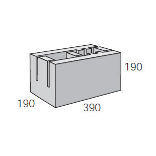 20.21 200mm Knockout Bond Beam Corner