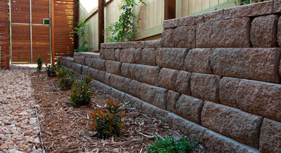 Adbri Masonry Sydney Meadow Stone 400x200x150mm Retaining Wall Block