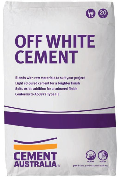 CEMENT AUSTRALIA OFF WHITE 20KG CEMENT