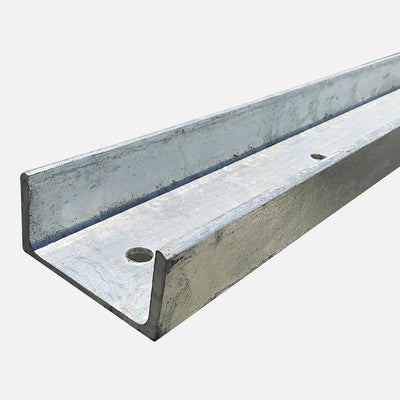 QPro Concrete Sleepers - Galvanised Steel C Posts 2800mm