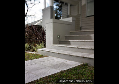 Custom Paving Sandstone 550x550x400x40mm Internal Corner Bullnose Paver